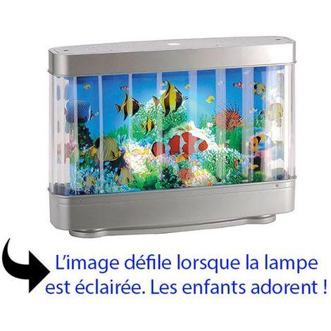 lampe de chevet originale led pour enfant aquarium d cor anim. Black Bedroom Furniture Sets. Home Design Ideas