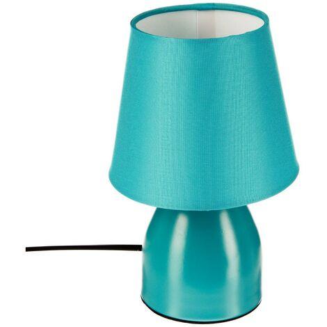 Lampe de chevet pied en métal Turquoise