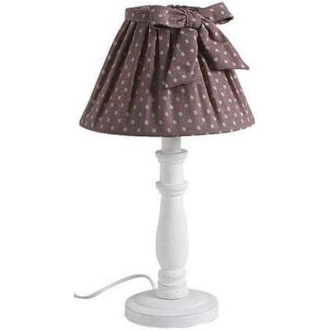 Lampe de chevet Shabby choc 40cm