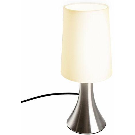 Lampe de chevet tactile 3 intensités éclairage chambre lampe de table abat-jour en tissu moderne lumière de lecture 29,5 cm