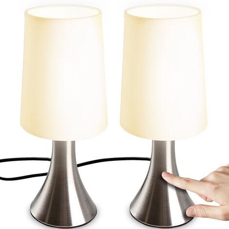 Lampe de Chevet Tactile 3 Intensités Fonction Touch éclairage E14