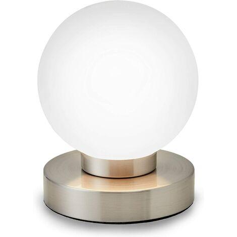 lampe de chevet tactile 3 intensités, lampe de table avec fonction Touch, lumière de lecture, éclairage chambre, chambre enfant bébé, 3 niveaux de luminosité