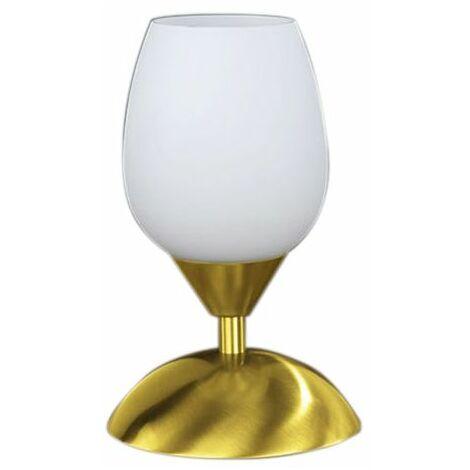 Lampe de chevet tactile Blanc et Or - Doré