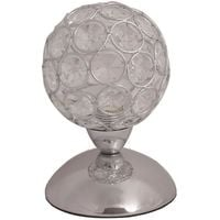 Lampe de chevet tactile boule en chromé et verre cristal ? Ø 10 cm Generique