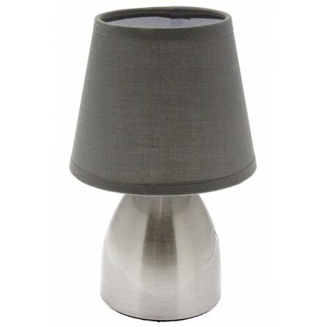Lampe de chevet touch - Gris - Tactile à 3 intensités