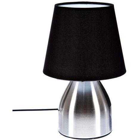 Lampe de chevet Touch - H. 19,5 cm. - Noir