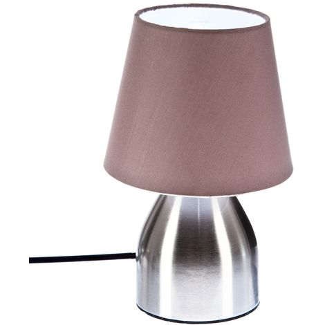 Lampe de chevet Touch - H. 19,5 cm. - Taupe
