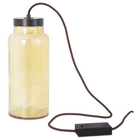Lampe de chevet verre Raw LED H33 cm - Jaune - Jaune