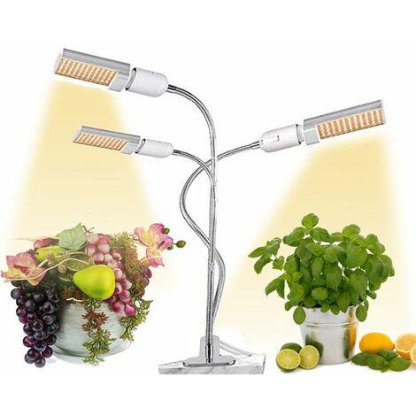 """main image of """"Lampe de Croissance Lampe Horticole 68W à Trois Têtes avec Cou de Cygne Flexible 360°,équipée de 132 LEDs,Parfait pour Fleurs,et Légumes Intérieur.Lampe de Plante."""""""