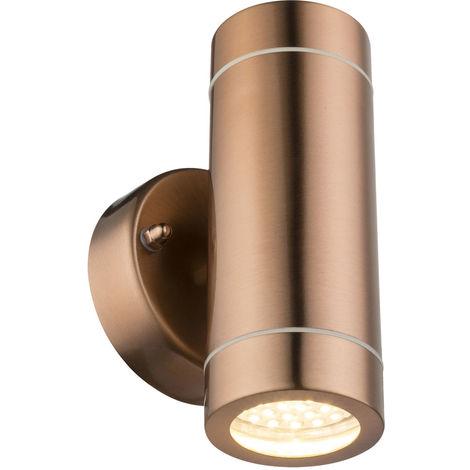 Lampe de façade murale à LED en verre et en cuivre Luminaire UP & DOWN Garden Lighting Globo 32069-2