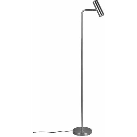 Lampe de lecture lampadaire lampadaire intérieur salon lampe de lecture lampadaire argent pivotant, 1x GU10, H 151 cm