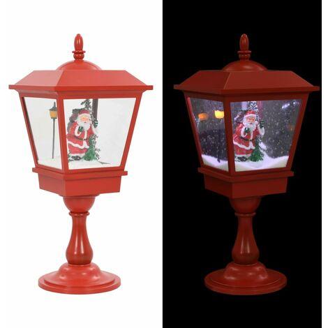 Lampe de piédestal de Noël avec Père Noël 64 cm LED