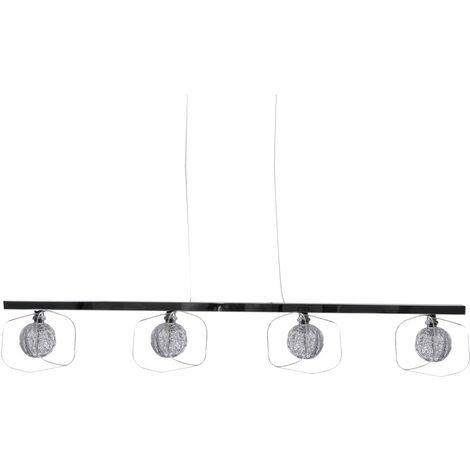 Lampe de plafond design ALU Sphere Glass Braid Salon Chrome Lampe Brilliant G78372 / 15