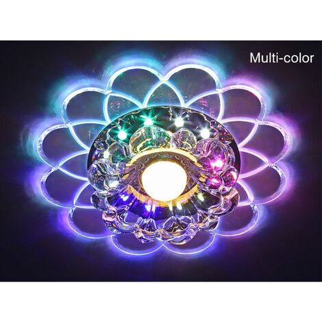 lampe de plafond Lotus 5W LED SMD 5730 Crystal Lustre chambre couloirmulticolore