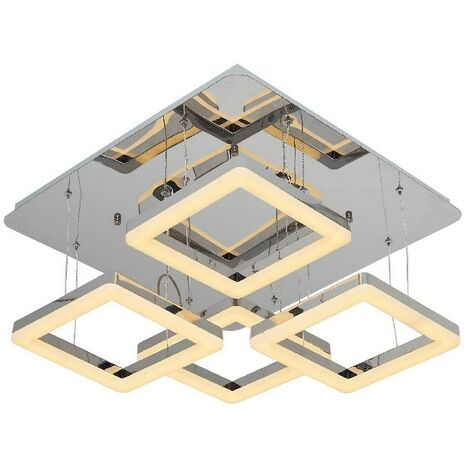 Lampe de Plafond Moon Plafonnier - Carree - Murale - Metal 54 x 54 x 26 cm 1 x LED 16W 6720LM 3000K Lumiere Naturel