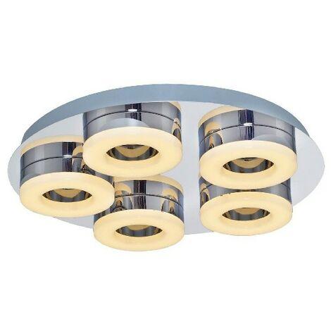 Lampe de Plafond Moon Plafonnier - Ronde - Murale - Metal 40 x 40 x 10 cm 1 x Bande de LED 6W 3150LM 3000K Lumiere Naturel