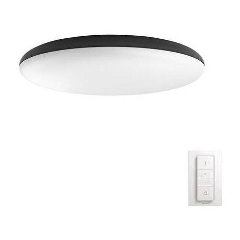 Lampe de plafond / murale LED 39 W 1x LED intégrée Philips Lighting Cher 4096/730/P7 noir, blanc 1 pc(s)
