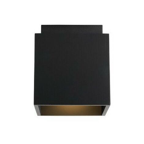 Lampe de Plafond Norma - Plafonnier - du mur - Noir en Bois, Metal, 12 x 12 x 13,5 cm, 1 x GU 10, Max 35W