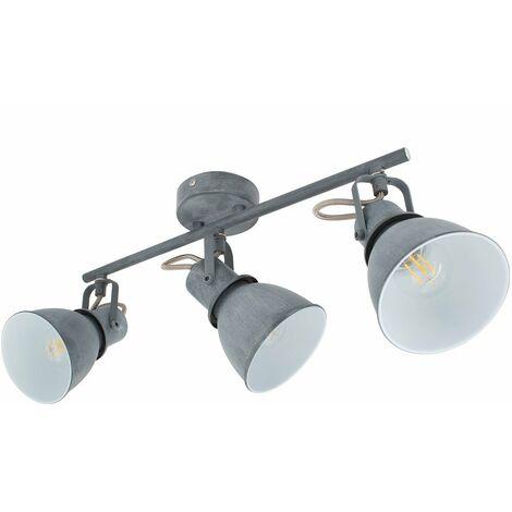 Lampe de Plafond Orientable Emery 3 Spots Gris Gris
