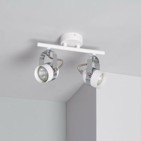 Lampe de Plafond Orientable Sinner 2 Spots Blanc Blanc