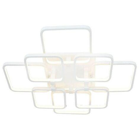 Lampe de Plafond Plaza Plafonnier - Carree - Murale - Metal 66 x 66 x 12 cm 1 x LED 152W 15960LM 4200K Lumiere Naturel
