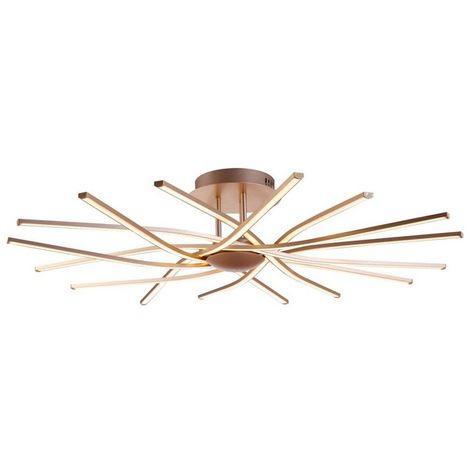 Lampe de Plafond Ray Plafonnier - Murale - Metal 90 x 90 x 15 cm 8 x LED 15W 15120LM 4200K Lumiere Naturel