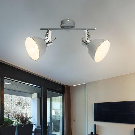 Lampe de plafond rétro salon lampe Vintage Projecteur réglable dans l'ensemble, y compris les ampoules LED