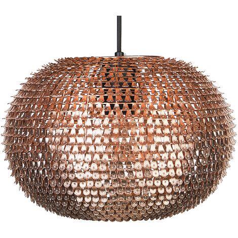 Lampe de plafond - suspension - plafonnier - luminaire cuivre - Reine