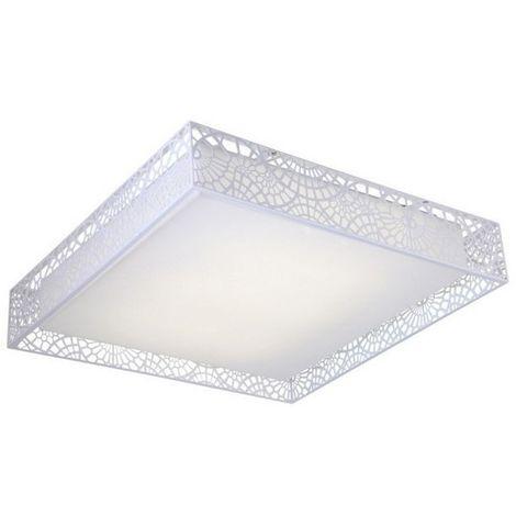 Lampe de Plafond Vito - Plafonnier - Murale - Blanc en Metal, 60 x 60 x 13 cm, 6xpo W.LED Max 6 W