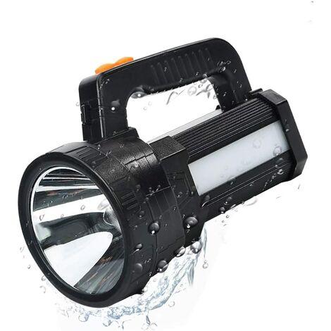 Lampe de poche LED rechargeable étanche IPX4, 9600mAH / 11000 lumens LED 3 en 1 puissante, lampe de camping portable, lampe de poche rechargeable pour le camping et le camping