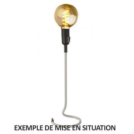 Lampe De Salon Sur Pied En Fil Textile Gris Clair Stand UP