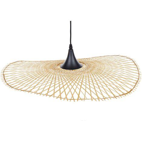 Lampe de suspension en bambou clair 60 cm FLOYD