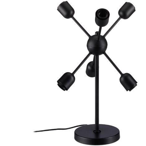 6 Table Soleil Ampoules Rayons Design A Bras De Lampe Poser Boule AL453Rj