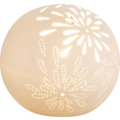 Lampe de table à écrire Lampe en porcelaine blanc mat boule câble 1,8m éclairage
