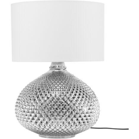 Lampe de table argentée MADON