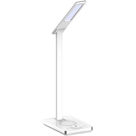 Lampe de table avec chargeur sans fil pour téléphone V-tac VT-7505 - 5W - 800 Lumen - température de couleur réglable - blanc