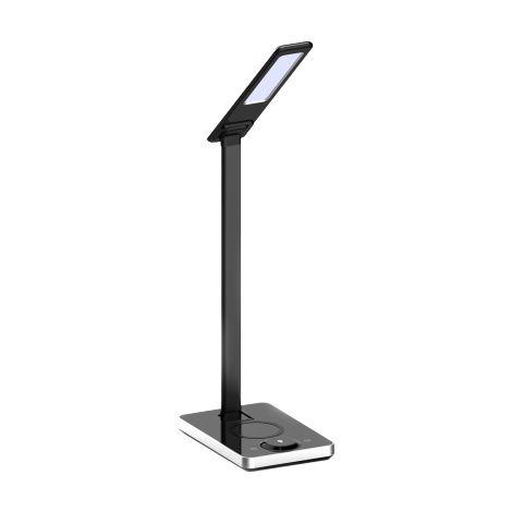 Lampe de table avec chargeur sans fil pour téléphone V-tac VT-7505 - 5W - 800 Lumen - température de couleur réglable - noir