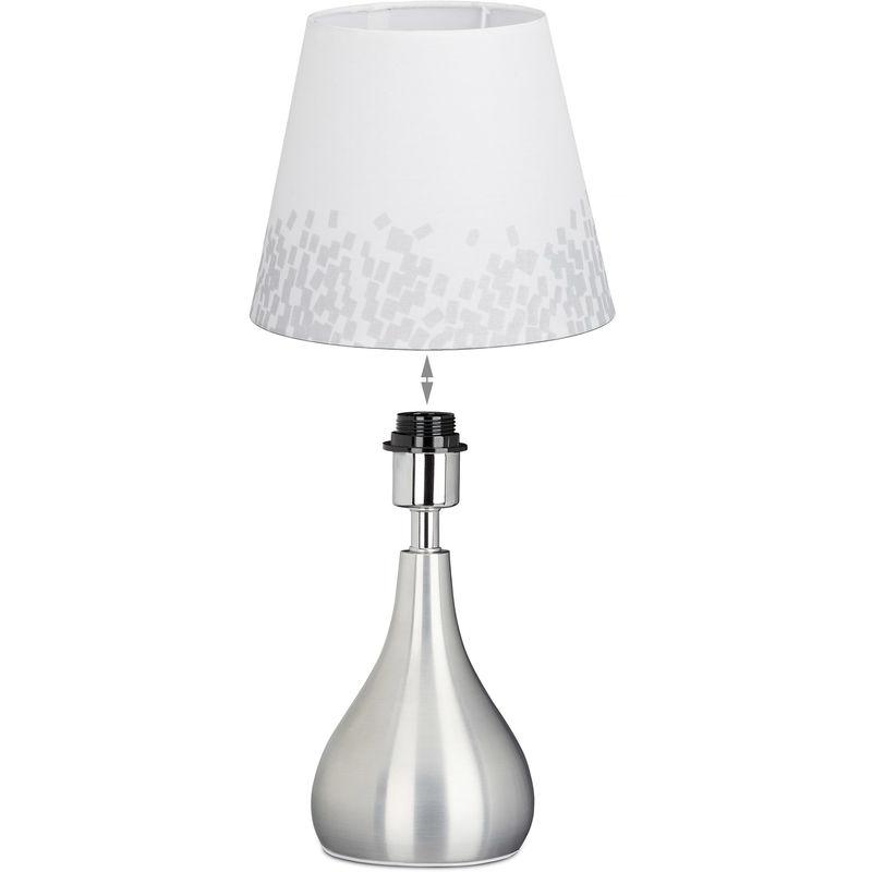 Blanche Jour Tissu Table Lampe Abat Cm43 Cm Lecture Ø Chevet HautBlanc Métal De 24 Liseuse rBEQdCoxeW