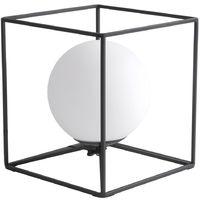 Lampe de table, Cage -Design, Noir, H 17,5 cm, GABBIA