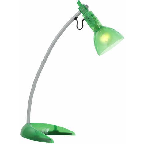 Lampe de table de chevet d'écriture transparente verte salon chambre à coucher lampe de lecture Globo 24887