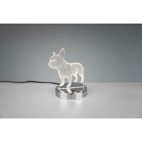 Lampe de table de chien led 3,2w rgb warm light 3000k avec interrupteur marche/arrêt r52651106