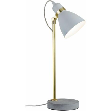 Lampe de table de nuit design écrit béton gris blanc-or mat lampe de lecture spot réglable Paulmann 79623