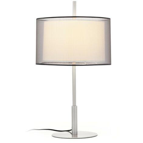 Lampe de table de style moderne-Matte de nickel