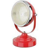 Lampe de table decorative faro auto 40w attacco e14 color red 34-2m-002
