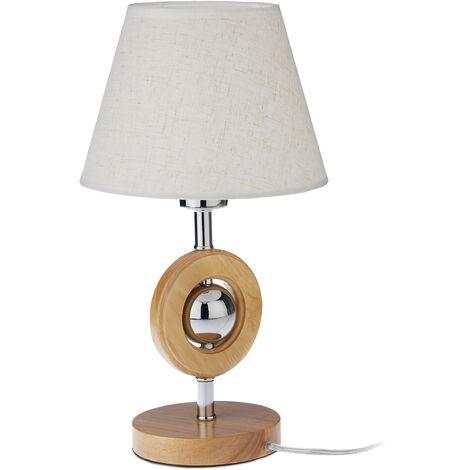 Lampe de table design, métal, bois, deco design lampe de