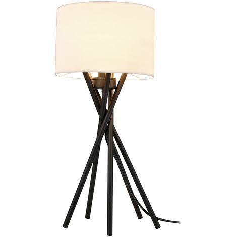 lampe de table élégante - Mikado - (1 x socle E14)(57 cm x Ø 25 cm) lampe de bureau ou lampe de table de nuit