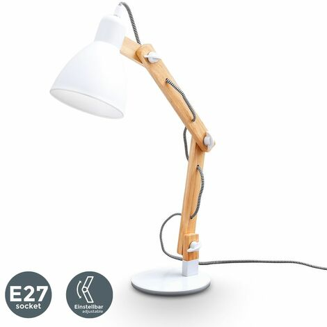 Lampe de table en bois naturel lampe de lecture lampe de