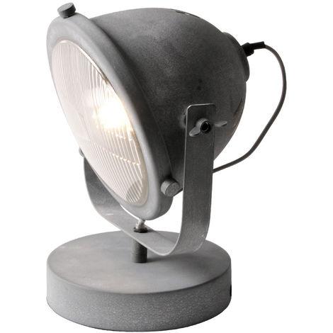 Lampe de table en métal aspect béton, hauteur 30cm CARMEN