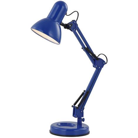 Lampe de table en métal, bleue, hauteur 62 cm FAMOUS