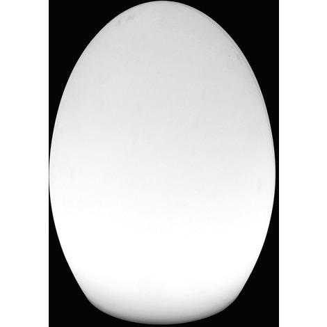 Lampe de table extérieure LED - Yaiza - Ovale - Blanc